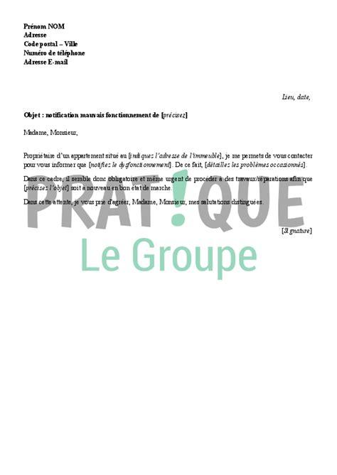 Exemple De Lettre Voisin Bruyant Lettre Au Syndic Pour Pr 233 Venir D Un D 233 Faut De Fonctionnement Pratique Fr