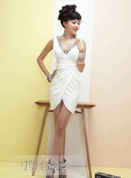 30708 White Informal V Neck Dress Dress Kode Vc6136 1 tbdress a wide selection of white tie dress code styles