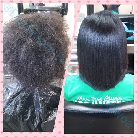 dominican blowout on short hair the platinum blowout