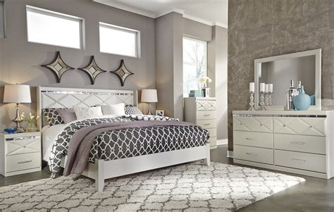 panel bedroom set dreamur 4 piece panel bedroom set in chagne
