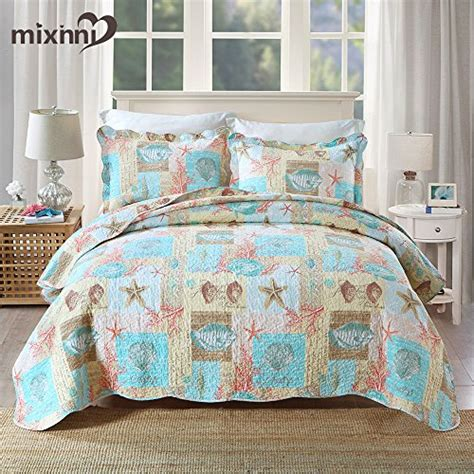 Katun Jepang Import Cotton Silk Bed Sheets 7 mixinni seashell bedding quilt set theme bedspread import it all
