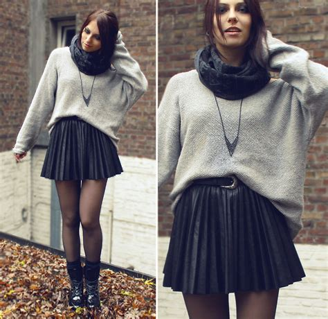 fotos tumbrl invierno masha sedgwick boots scarf necklace skirt i want to