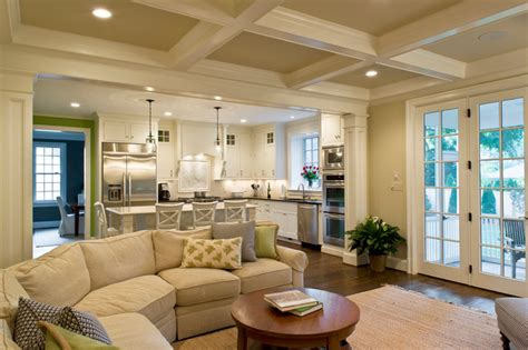 open concept kitchen living room designs family room and kitchen traditional family room dc