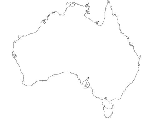australia map outline map outline clipart best