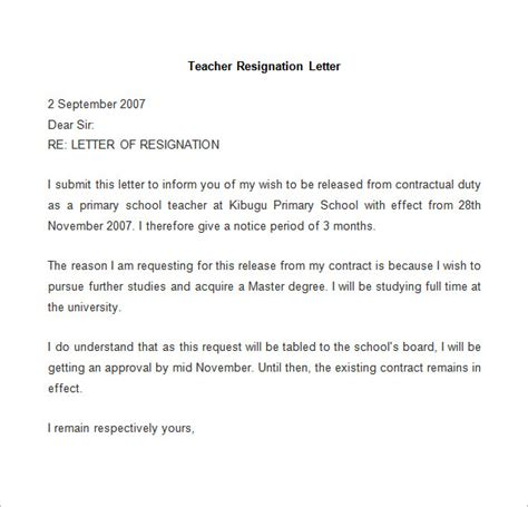 Resignation Letter Format Reason Higher Studies Resignation Letter Template 25 Free Word Pdf Documents