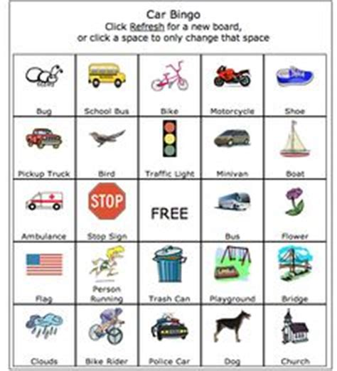 printable games car journey uk travel on pinterest road trip bingo road trips and road