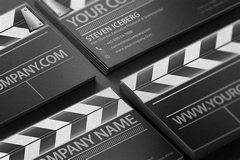Film Director Business Card Business Card Templates Creative Market Filmmaker Business Card Template