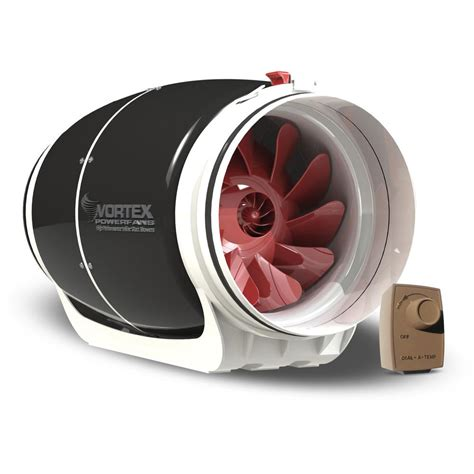 800 cfm inline exhaust fan vortex powerfan s line 8 in 711 cfm inline fan with dial