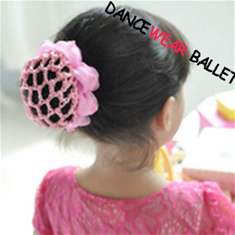 Hair Accessories Bun Cover by Children Colorful Ballet Hair Accessory Bun Cover With