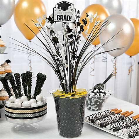 graduation centerpieces with pictures congrats grad spray centerpiece idea grad treat