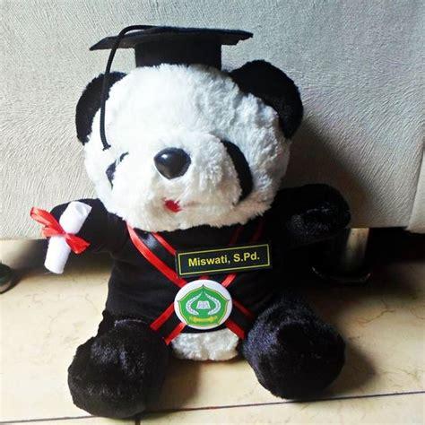 Boneka Panda Warna boneka wisuda panda iain kendari kado wisudaku