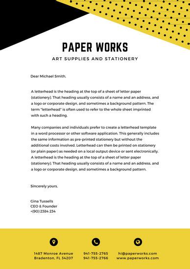 Official Letterheads Template Letterhead Templates Canva
