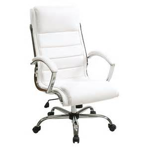 White Office Desk Chairs Inspired By Bassett Ellis Executive Chair White With Chrome At Hayneedle