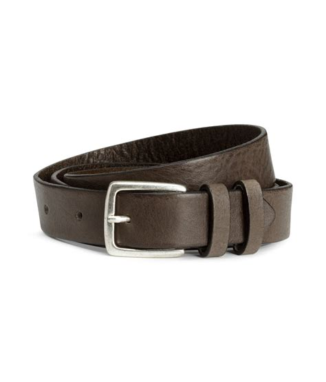 h m leather belt in gray for lyst