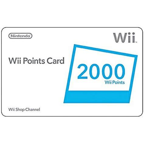 Nintendo Wii Gift Card - wii 2000 points card 2015 amazon top rated points cards videogames amazon top