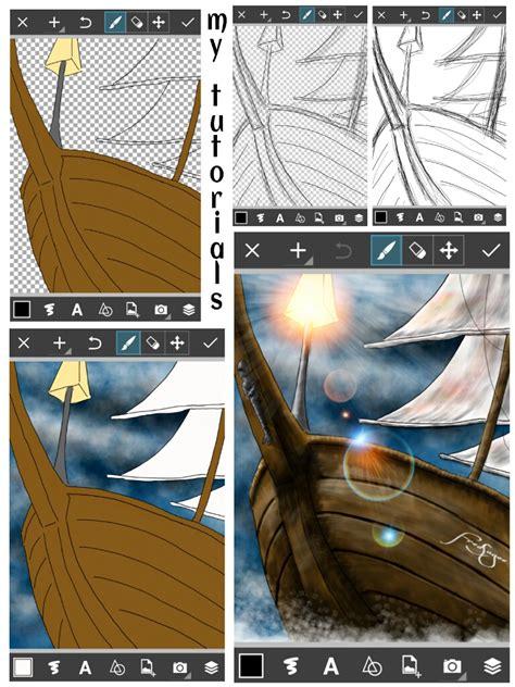 tutorial picsart photo studio picsart user tutorials from the ship drawing challenge
