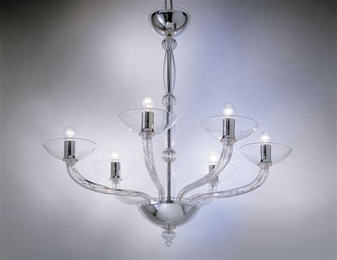 Chandeliers Glass Nella Vetrina Eclettici Ninfea 9002 06 Murano Chandelier