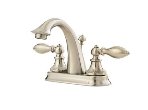 Bathroom Faucets Nickel Finish Pfister 4 Inch 2 Handle Centreset Bathroom Faucet