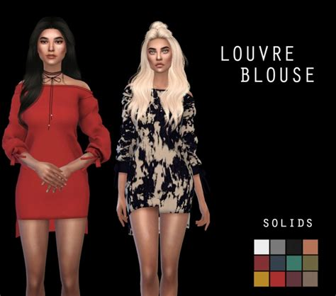 Blouse Leo Collor louvre blouse at leo sims 187 sims 4 updates