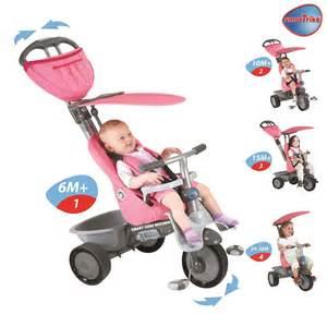 new pink smart trike recliner stroller 4 in 1 smartrike
