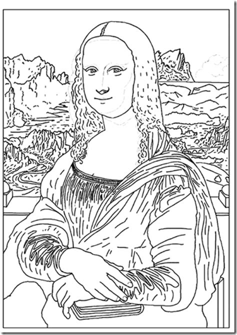 la mona lisa coloring pages coloring pages