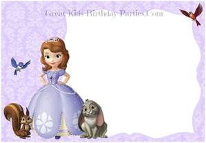 sofia the invitation template princess sofia invitations template printable templates free