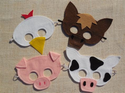 farm animal mask templates best photos of printable farm animal masks farm animal