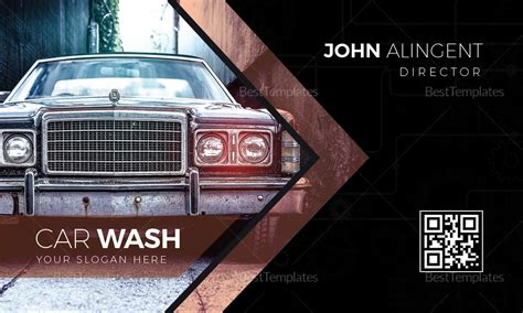 Car Wash Business Card Design