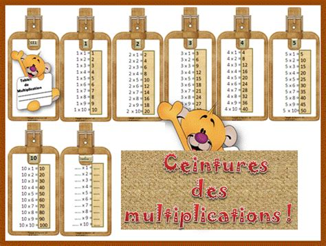 entrainement tables de multiplication maison design