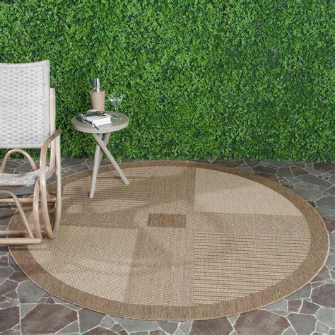safavieh cy1928 3009 courtyard indoor outdoor area rug brown lowe s canada safavieh courtyard brown 6 ft 7 in x 6 ft 7 in indoor outdoor area rug cy1928
