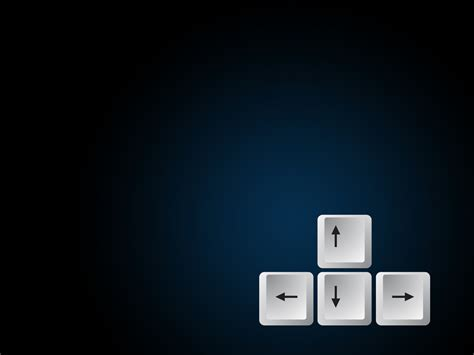 Keyboard Arrow Button Ppt Design Backgrounds Black Powerpoint White Templates Free Ppt Computer Templates For Powerpoint