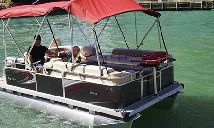 boat rental with grill boat rental or fireworks cruise bbq pontoons groupon
