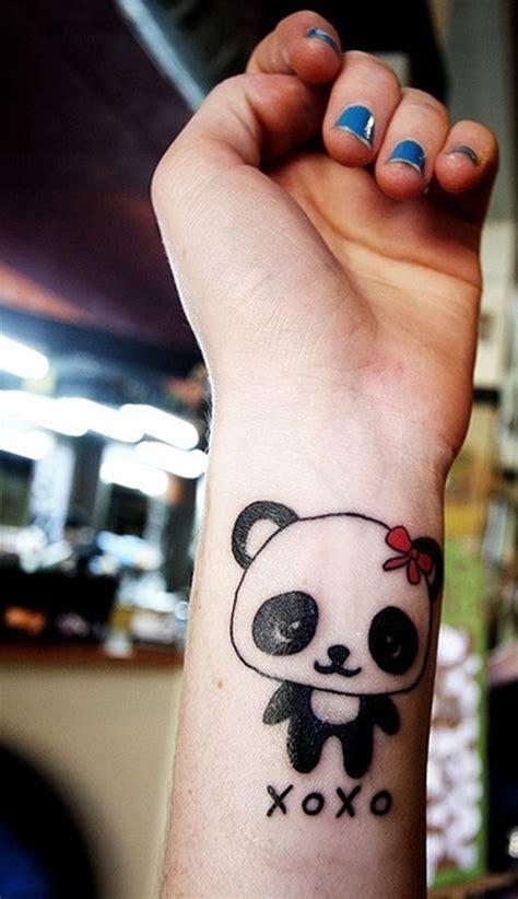 panda tattoo love 9 cute panda wrist tattoos