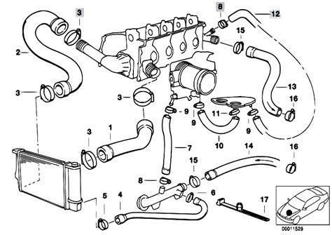 bmw e46 cooling system diagram original parts for e36 316i 1 6 m43 compact engine