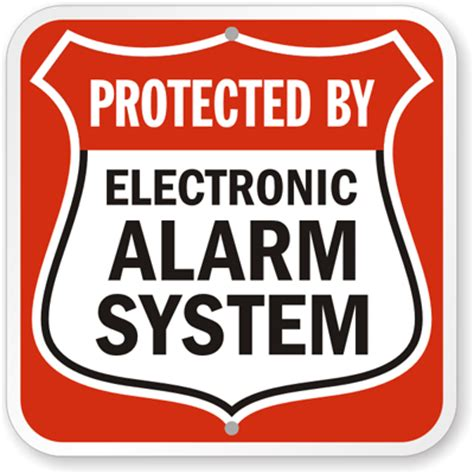 security alarm signs free shipping