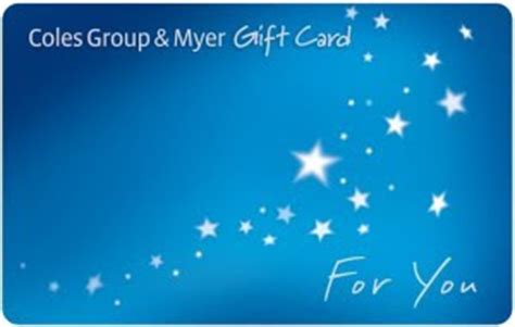 Coles Myers Gift Cards - coles group myer gift cards autos post