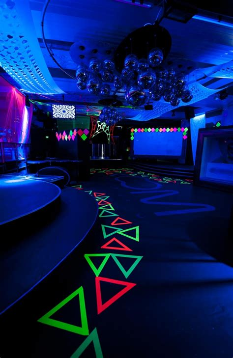 glow in the room glow in the themed myplace tuesdays room 680 decorination
