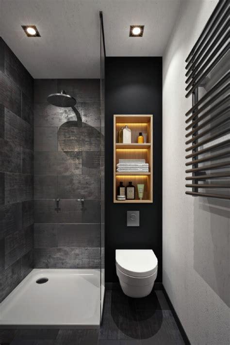 Ordinaire peinture petite salle de bain #1: rangement-verticale-de-bois-clair-accessoires-salle-de-bains-meuble-toilette-carrelage-gris-anthracite-cuvette-wc-suspendu-seche-serviette.jpg