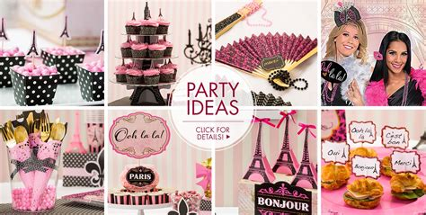 paris themed party kit a day in paris party supplies party city canada