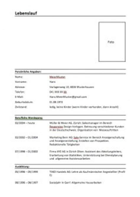 Kostenlose Vorlage Mitarbeitergespräch Lebenslauf Schweiz Vorlage Muster Und Vorlagen Lebenslauf Schweiz Und