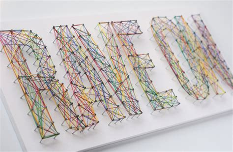 Typographic String - how to make typographic string made diy