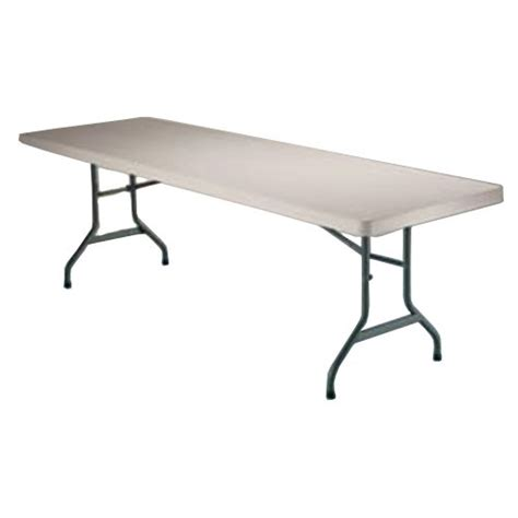 8 Foot Folding Table Folding Tables Target Lifetime 8 Foot Utility Table With 96 By 30 Inch Molded Top Almond