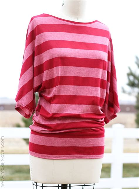 jersey blouse pattern diy dolman top with banded bottom craft diy