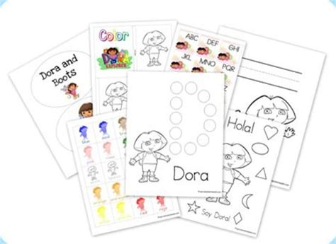 Dora Printable Preschool Activities | dora tot book free printables trips activities and