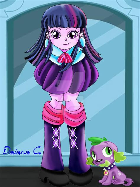 equestria girls twilight and spike twilight sparkle spike from mlp equestria girl by