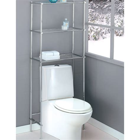 toilet bathroom organizer stainless steel three shelves the toilet storage rack