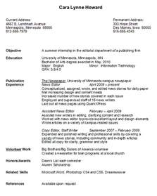 job resume samples for college students experience resumes