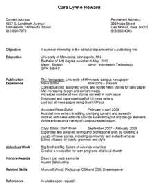 resume examples college freshman 2