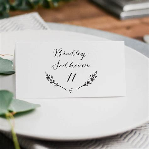 Diy Place Cards Templates by Rustic Wedding Place Cards Template Printable Wedding