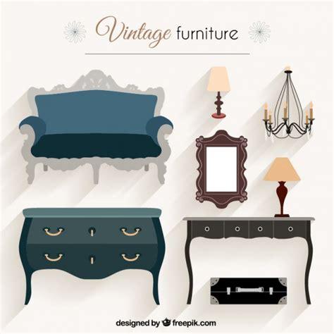 mobili in kit vintage furniture pack vector free